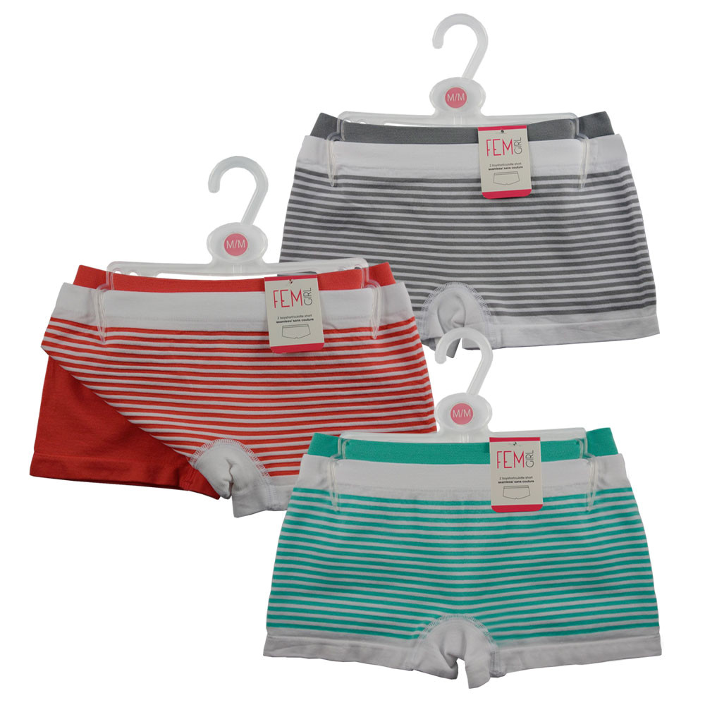 Girls Stripe Boy Short